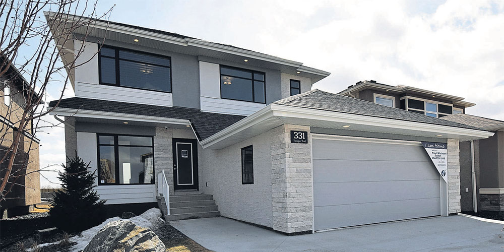 Exterior of our show home, the Brunswick, at 331 Tanager Trail in Sage Creek