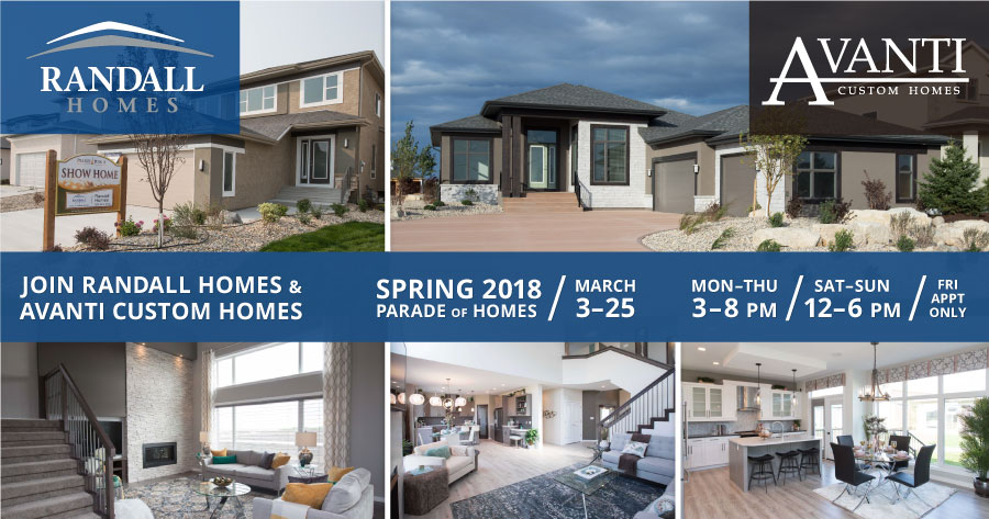 Join Us! 2018 Spring Parade of Homes – March 3-25