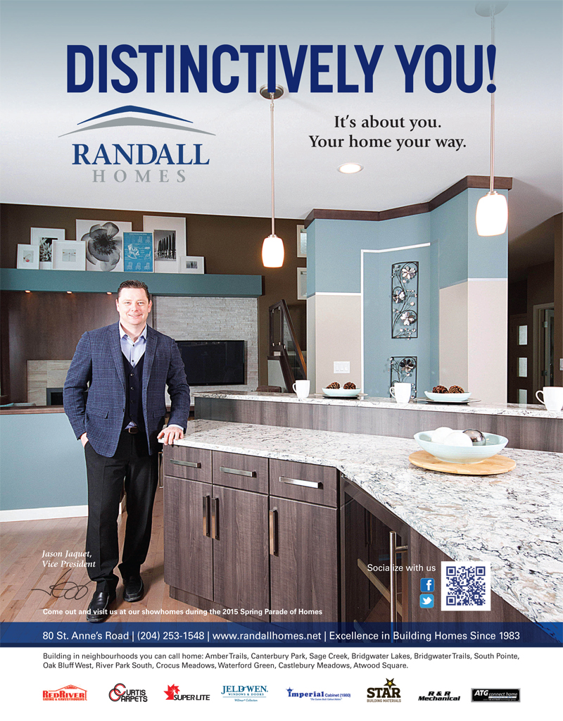 Spring Parade of Homes 2015 - Randall Homes - Custom Homes - Winnipeg - Manitoba